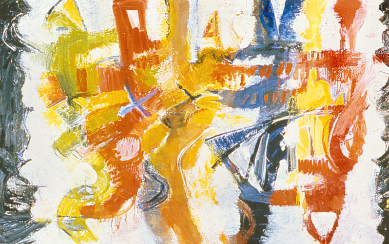 "The Party  , 1997, Oil on canvas, 34"" x 64"""