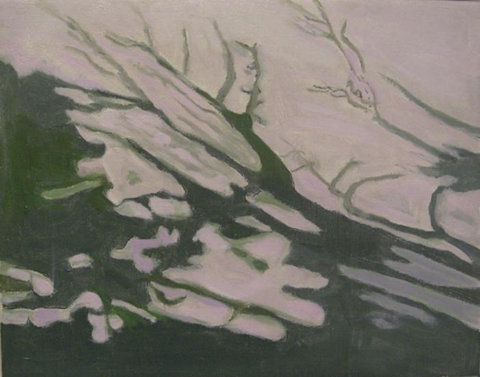"Green Patterns   , 1998,Oil on Linen, 8"" x 10"""