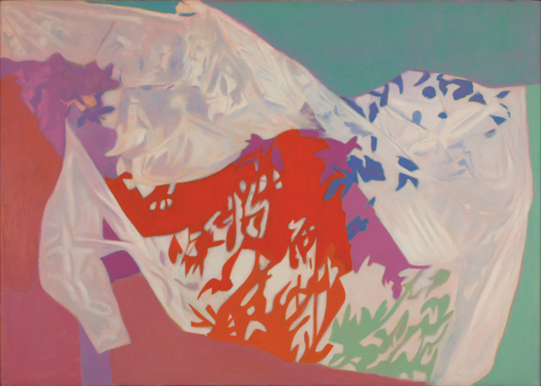 "Blueberry Net   , 1987, Oil on Linen, 30"" x 42"""
