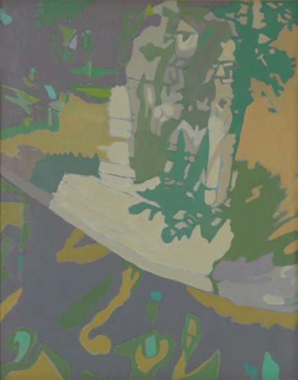 "The Covered Apple Tree   , 1990, Oil on Linen, 20"" x 16"""