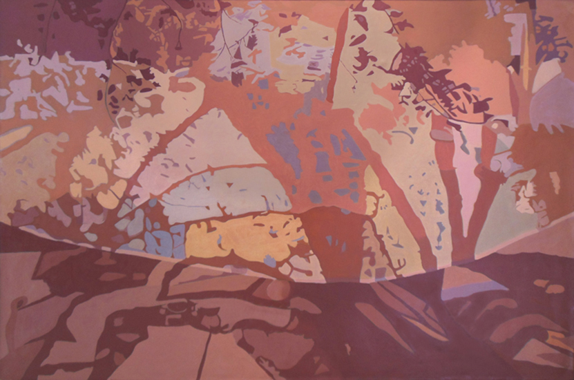 "Beige Net   , 1988, Oil on Linen, 47"" x 70"""