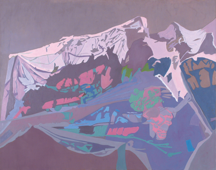 "Purple Net   , 1994, Oil on Linen, 40"" x 50"""