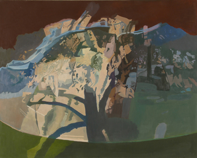 "The Covered Apple Tree   , 1994, Oil on Linen, 40"" x 50"""