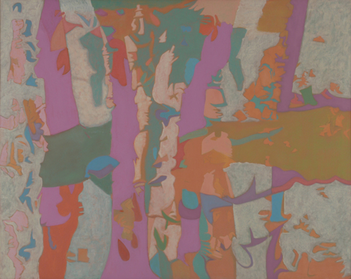 "Intersession,    1987,   Oil on Linen, 40""x50"""