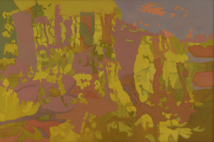 "Hanging,    1987, Oil on Linen, 40"" x 60"""