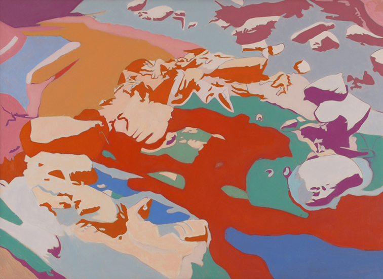 "Soaring  ,  1987, Oil on Linen, 36"" x 50"""