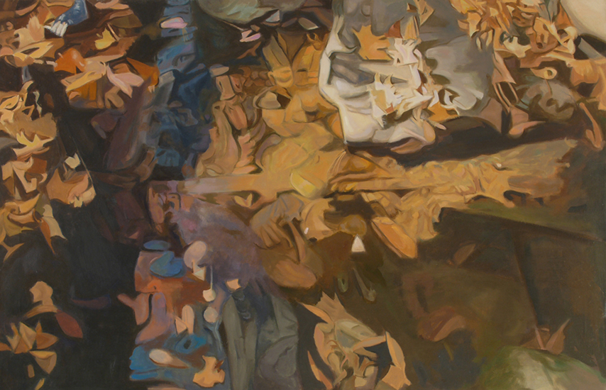 "Over Flow  ,  1987,   Oil on Linen, 26""x40"""