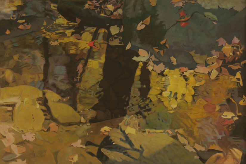"Yellow Reflections   , 1983, Oil on Linen, 40""x60"""