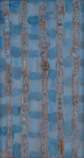 "Compassion Theme-The Nail   , 1952-54, Oil on Linen, 44"" x 24"""