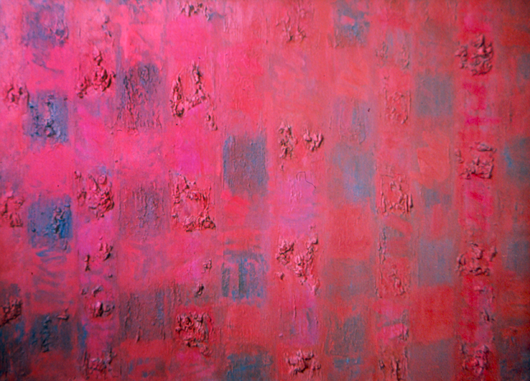 "Red and Rough II   , 1955, Oil on Linen, 28"" x 44"""