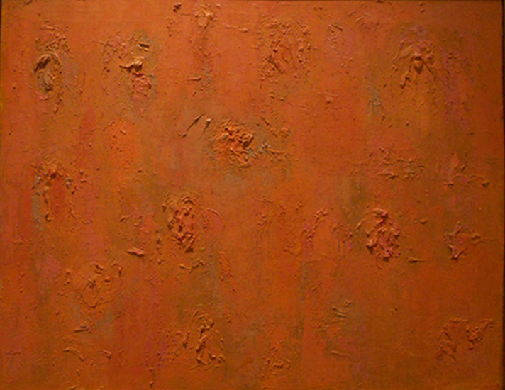 "Grey Orange   , circa 1955, Oil on Linen, 28"" x 44"""