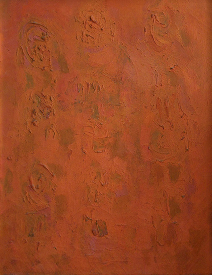 "Orange Compassion   , 1954, Oil on Linen, 25"" x 20"""