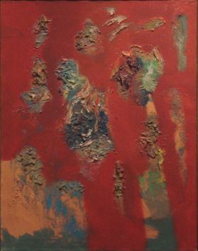 "Rising   , 1965, Oil on Linen, 32"" x 25"""