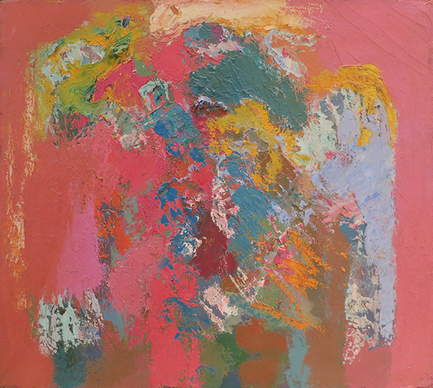 "Broken Idol   , 1962, Oil on Linen, 18""x20"""