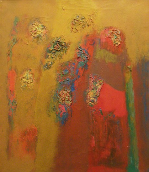 "Excelsior   , 1965, Oil on Linen, 32"" x 28"""
