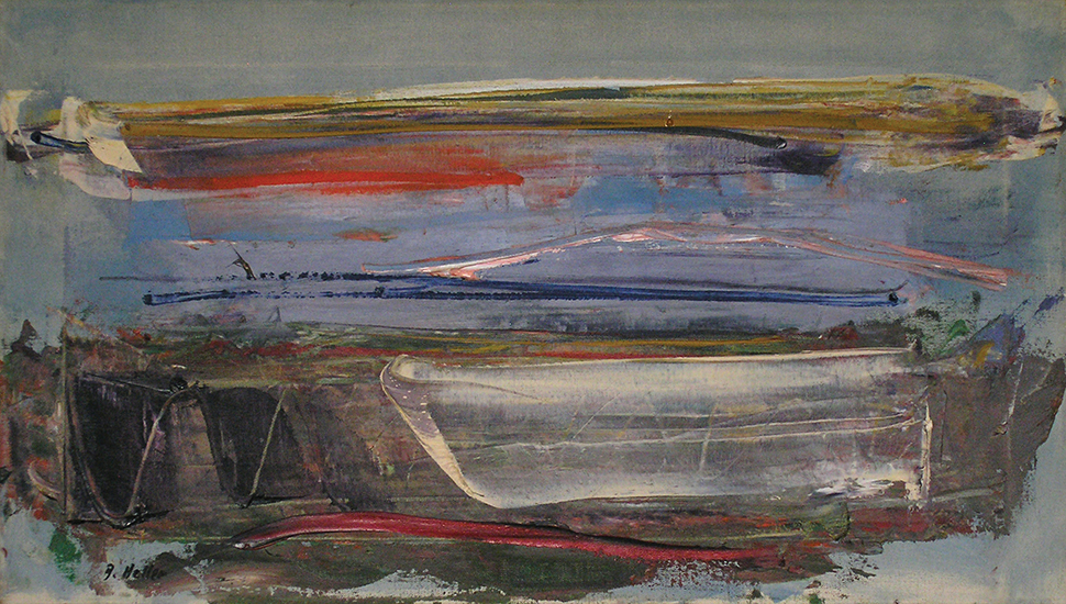 "Mood of the Sea   , Oil on Linen, 25"" x 14"", 1957"