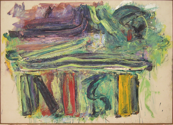 "NISI   , 1955, Oil on Linen, 51"" x 36"""