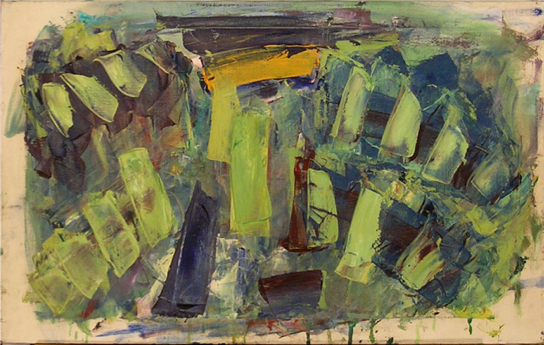 "Foliage   , 1955, Oil on Linen, 32"" x 20"""