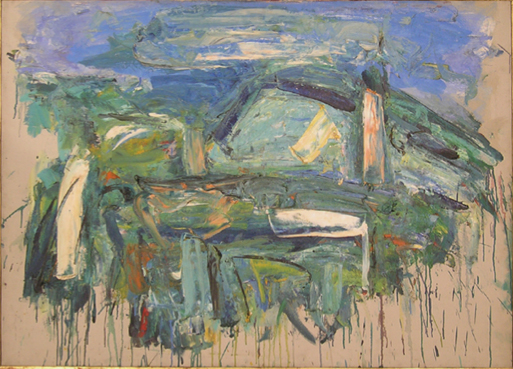 "Ruran Scene   , 1955, Oil on Linen, 51"" x 36"""