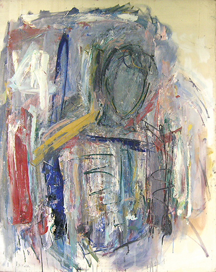 "Figure of Young Man   , 1956, Oil on Linen, 39"" x 49"""
