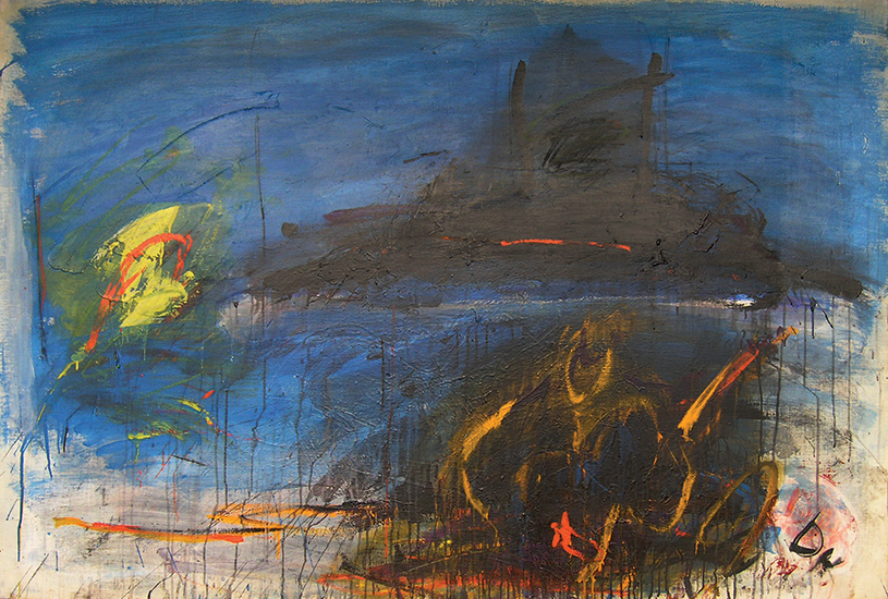 "Night Sea Journey  , 1960, Oil on linen, 51"" x 75"""