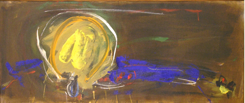 "Eye of the Sun  , 1960, Acrylic on linen, 21"" x 52"""