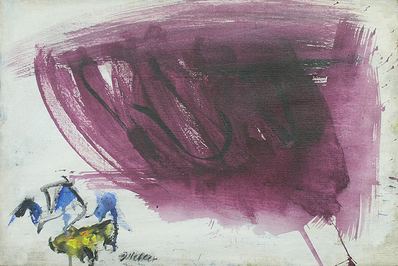 "Purple Cloud,   1961, Acrylic on linen, 16"" x 24"""