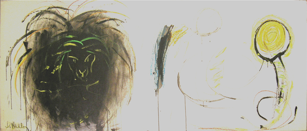 "The Black Lion  , 1962, Oil on linen, 91"" x 34"""