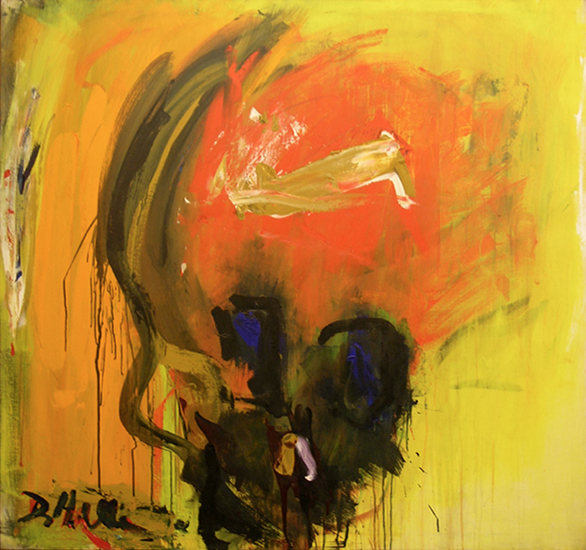 "The Mask (Skull)  , 1962, Acrylic on linen, 54"" x 50"""