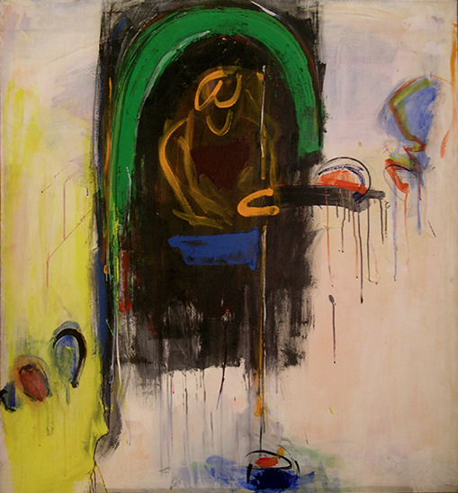 "Woman at the Well  , 1962, Acrylic on linen, 54"" x 50"""