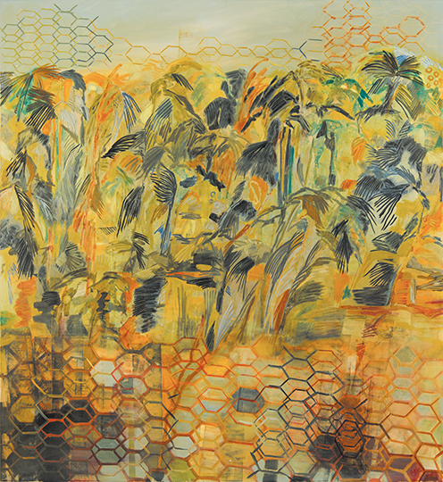 "Plantation   , 2014, Oil on Canvas, 65"" x 65"""