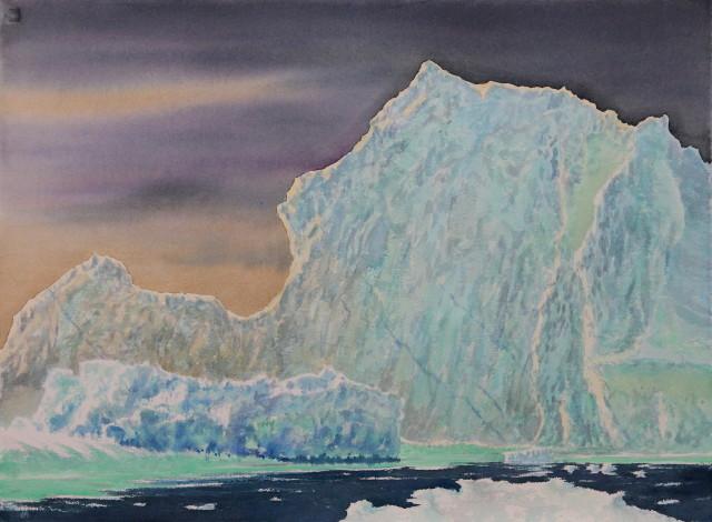 """Nameless Berg 5,  Oil on canvas, 22"""" x 30"""""""