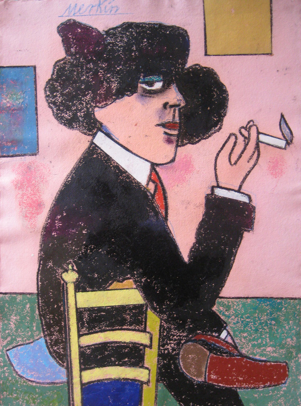 "Colette  , 1980-2006, Oil Pastel on Arches Paper, 31"" x 24"""