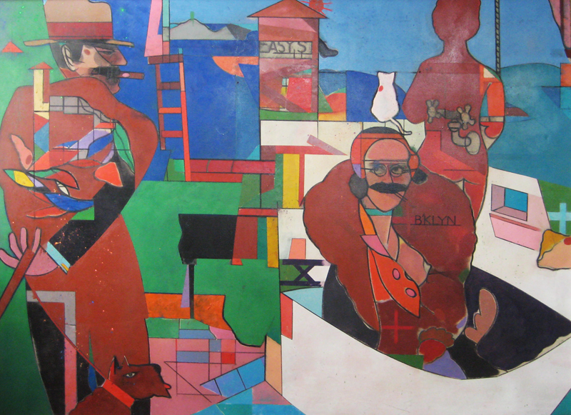 "The Cubist 1982   , 1982-1985, Oil on Canvas, 48"" x 66"""