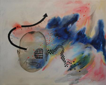 Joseph Kinnebrew,   2084  , 2011, Acrylic on Canvas, 16'' x 20''