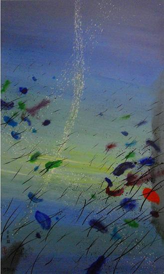 """Don Ahn,   Under Water 4  , 1999 , 60"""" x 36"""""""