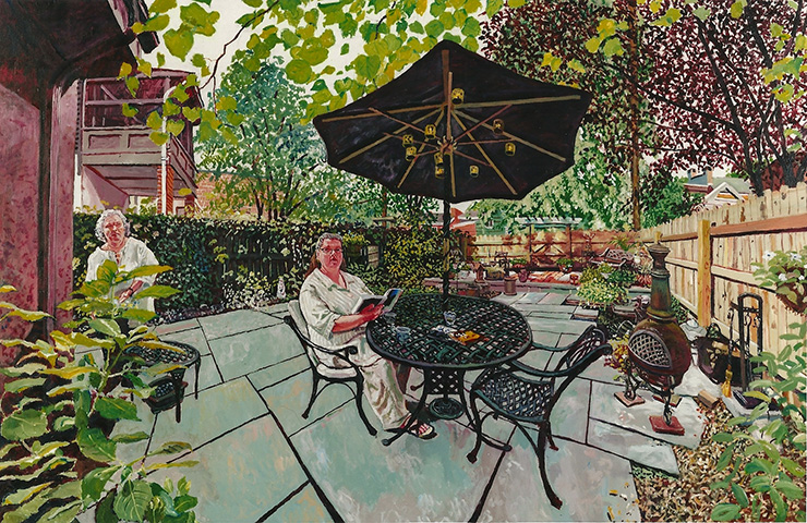 "Mel Leipzig,   Maureen's Garden  , 2006 Acrylic on Canvas, 34"" x 52"""