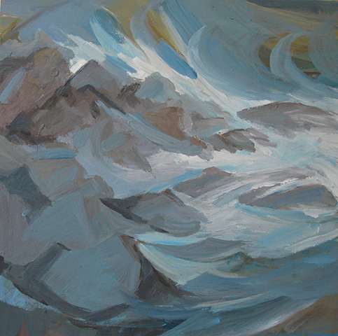 "Salvatore Tortora,   Storm Surge  , 2011 Acrylic on Canvas, 20"" x 20"""
