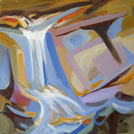 "Salvatore Tortoram,   Waterfall  , 18"" x 18"""