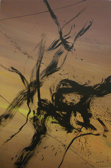 "Don Ahn,   Zen  , 1997, 54"" x 36"""