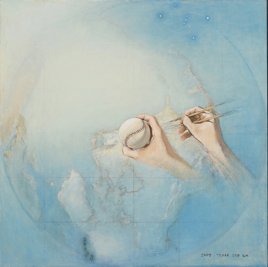 "Tchasup Kim,   Hands  , 2009, Oil on Canvas, 24"" x 24"""