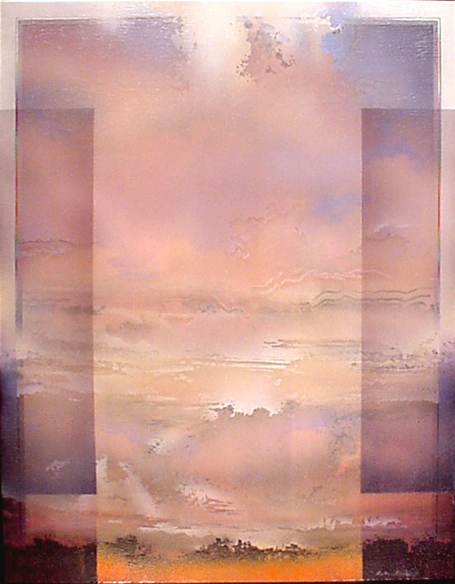 "Architectural Landscape,   Acrylic, 48"" x 36"""