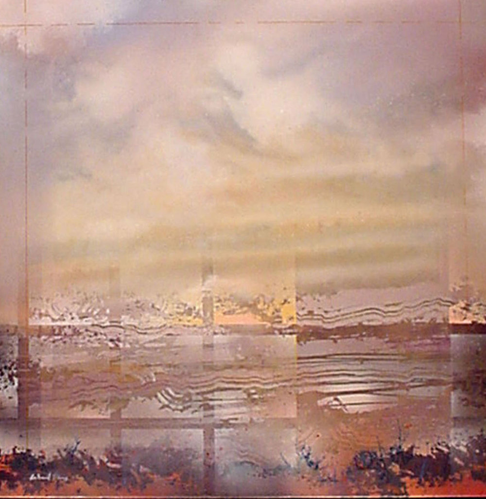 "Architectural Landscape III,   Acrylic, 38"" x 38"""