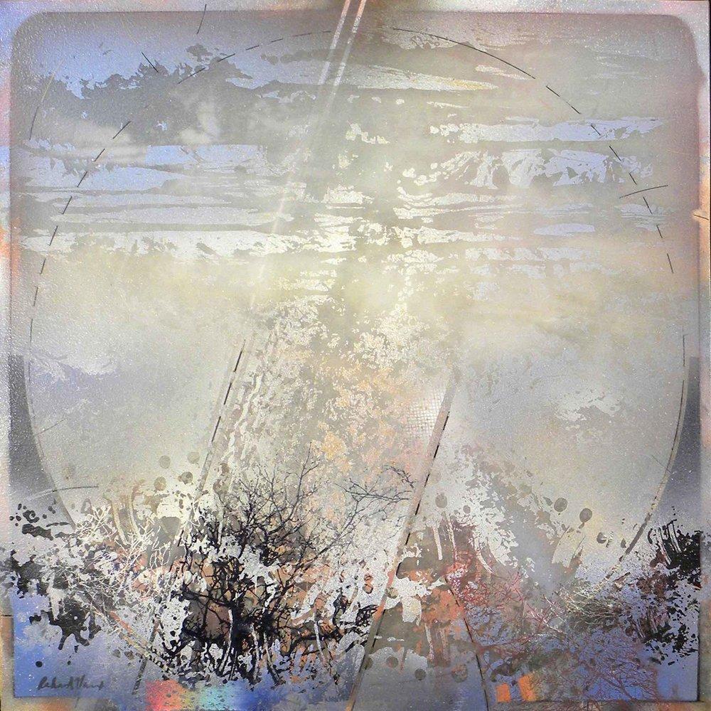 "Concentric Landscape II , Acrylic ,  38' x 38"""
