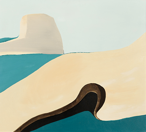 "Sea Rock , oil on canvas, 37"" x 40"", 1971"