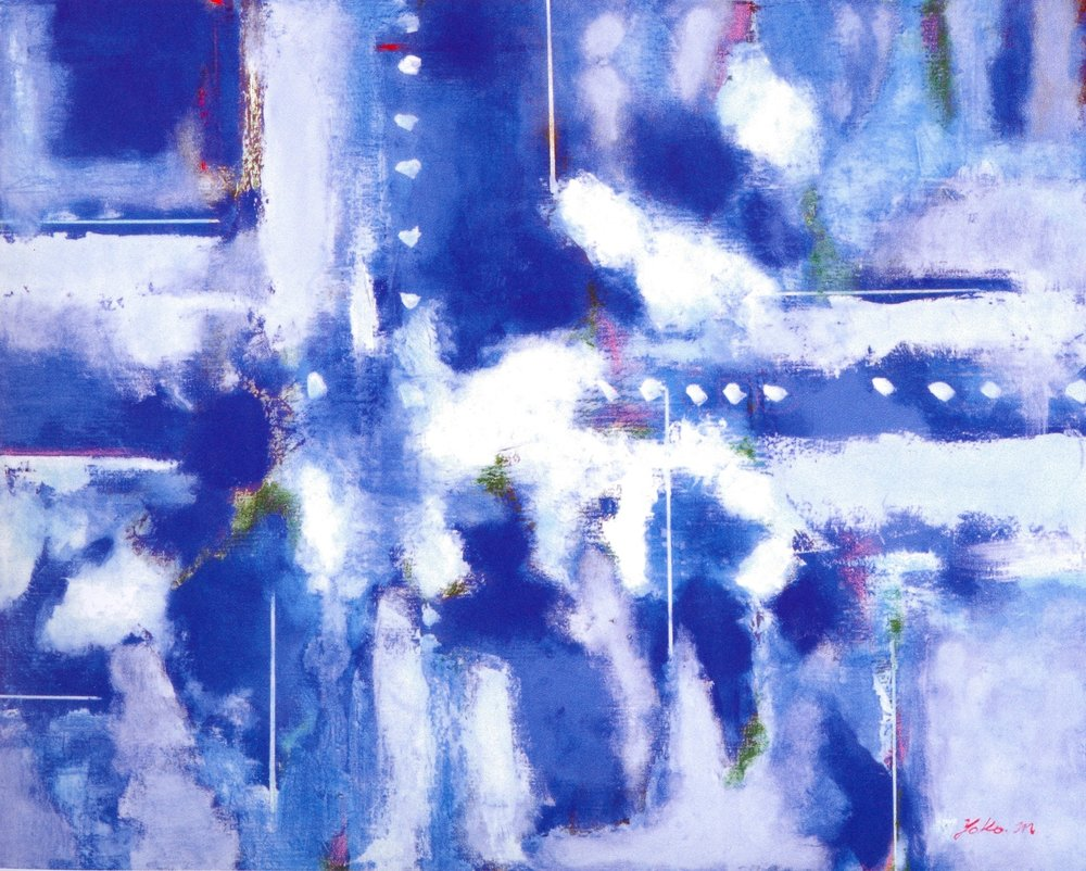 "World of Blue II  , 2006, Oil on Canvas, 29"" x 36"""