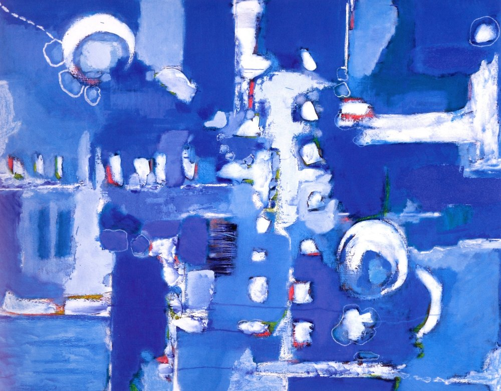"Blink of Blue  , 2007, Oil on Canvas, 36"" x 46"""