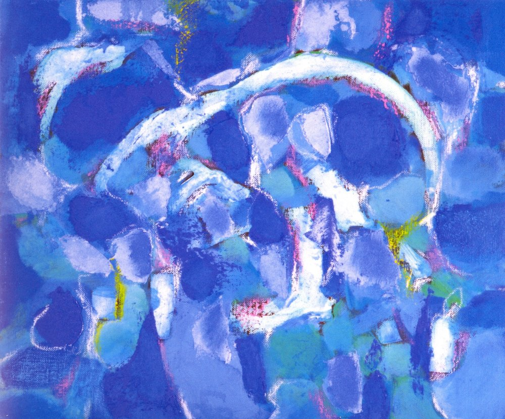 "World of Blue VII  , 2007, Oil on Canvas, 15"" x 18"""