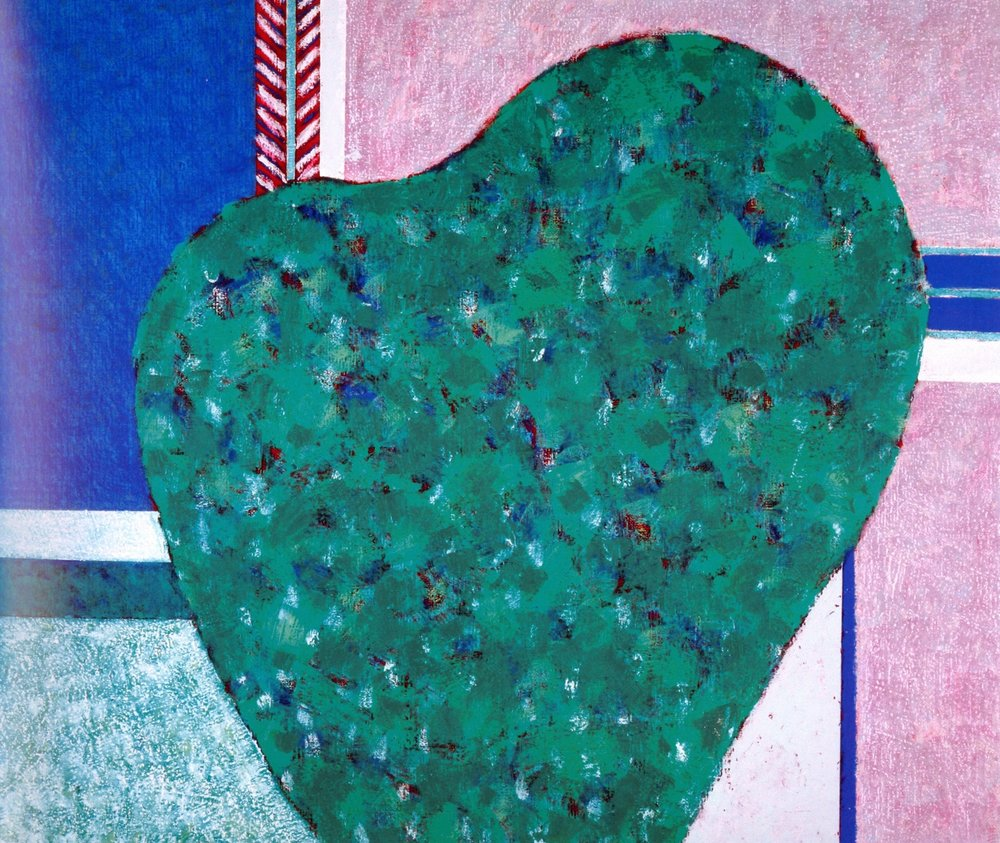 "Japanese Green  , 2005, Oil on Canvas, 18"" x 21"""