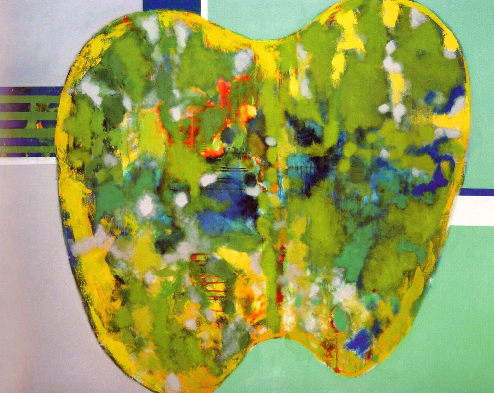 "Landscape  , 2002, Oil on Canvas, 51"" x 63"""
